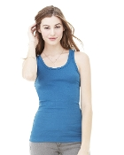 Bella - Ladies' Sheer Mini Rib Tank Top