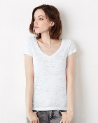 Bella + Canvas - Ladies' Burnout V-Neck T-Shirt